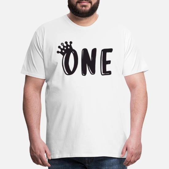 Mens Premium T Shirt1st Birthday Shirt One Boy 1st Todd