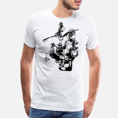 Kingdom Hearts Disney Kingdom Hearts - Men's Premium T-Shirt