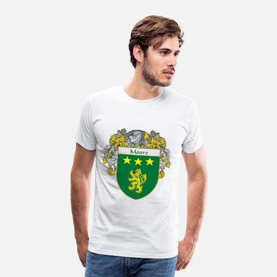 Family T-Shirts - moore_coat_of_arms_mantled - Men's Premium T-Shirt white
