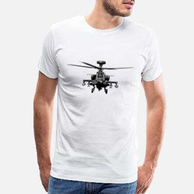 Military Aircraft Apache US Military Helicopter - Men's Premium T-Shirt