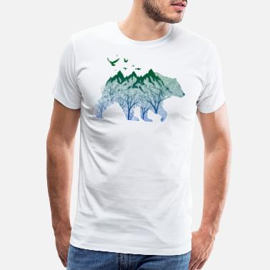 Outdoor Cool Bear Nature Outdoor Mountain Woods - Men's Premium T-Shirt