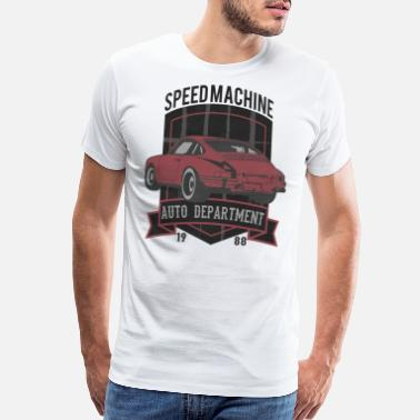 Vintage Automotive Awesome Graphic Car Design - Men's Premium T-Shirt