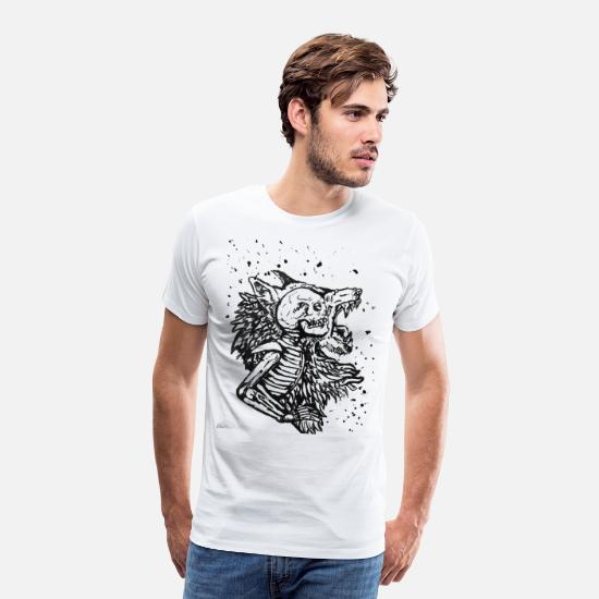 White T-Shirts - Werewolf - Men's Premium T-Shirt white