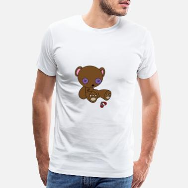 Voodoo Doll Teddy Bear Voodoo Doll Present Comic - Men's Premium T-Shirt