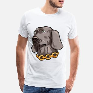 Weimaraner Weimaraner Weim Grey Ghost Doggie Dog Puppy Gift - Men's Premium T-Shirt