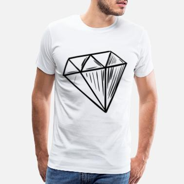 Diamant Diamant black - Men's Premium T-Shirt