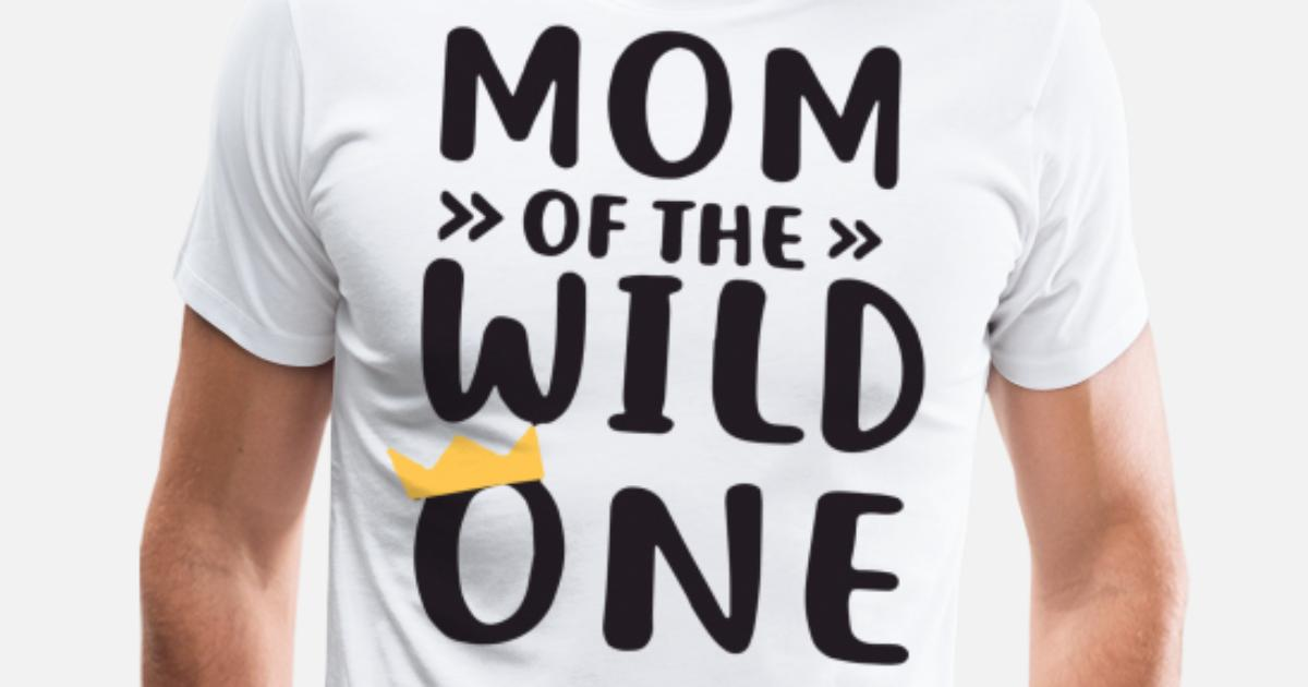 acb28555 Men's Premium T-ShirtMom and Dad of the Wild One Matching Wild and One