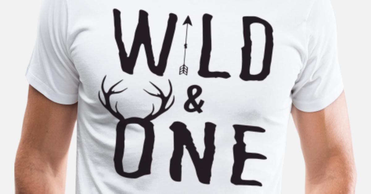 Wild One Tee First Birthday Shirt Baby Boy Birth By GarrySimpson