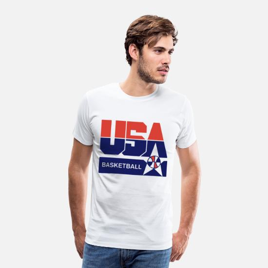 Basketball T-Shirts - USA Basketball Olympic Team Summer League - Men's Premium T-Shirt white