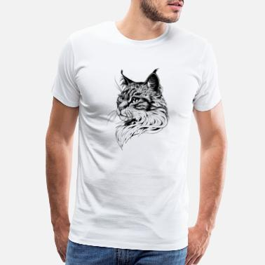 Portrait Cat Portrait hand-drawn - Men's Premium T-Shirt