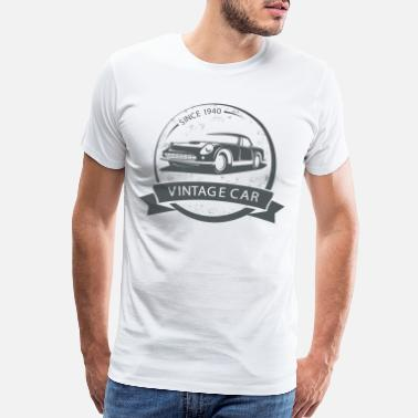 Sos vintage car 1940 - Men's Premium T-Shirt