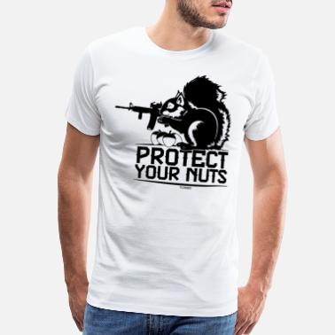 Couples With Guns Protect Your Nuts Military Funny Guns - Men's Premium T-Shirt