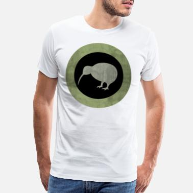 New Zealand Tribal Rustic Vintage New Zealand Kiwi hipster T Shirts - Men's Premium T-Shirt