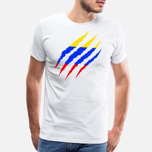a76a75659d9 Colombia - Colombian Flag Soccer Fan 2018 Men s Premium T-Shirt ...