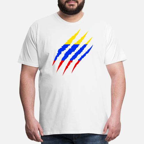 Colombia - Colombian Flag Soccer Fan 2018 Men s Premium T-Shirt ... adfa11c0c