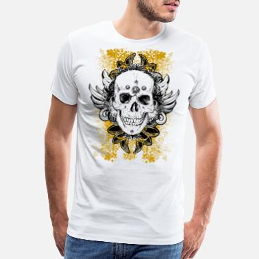 Skull Skull With Wings - Men's Premium T-Shirt