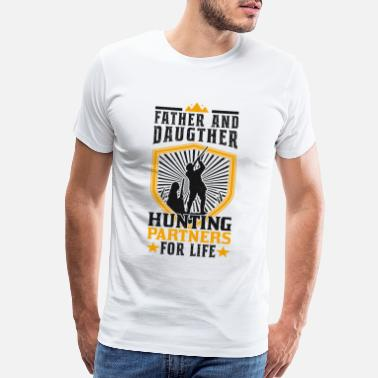 District Hunter father and daughter hunting hunter gift - Men's Premium T-Shirt