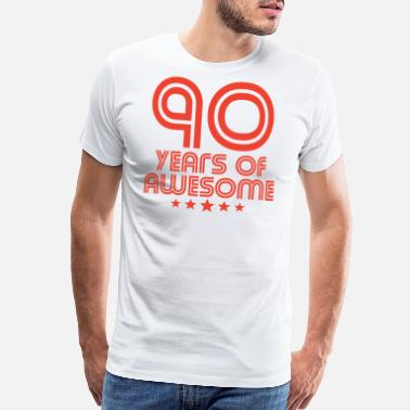 90th Birthday 90 Years Of Awesome 90th Birthday - Men's Premium T-Shirt