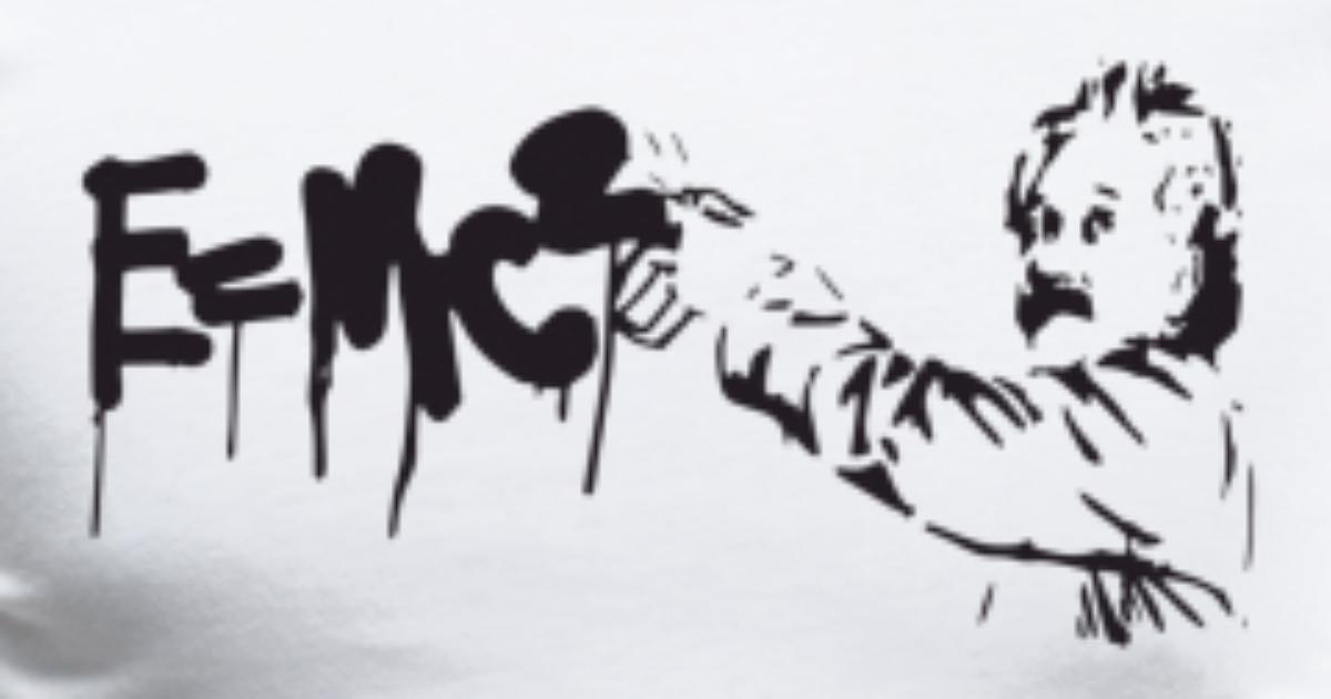 5fb5e386 Albert Einstein E Mc2 Graffiti Physics Science Mat Men's Premium T-Shirt |  Spreadshirt