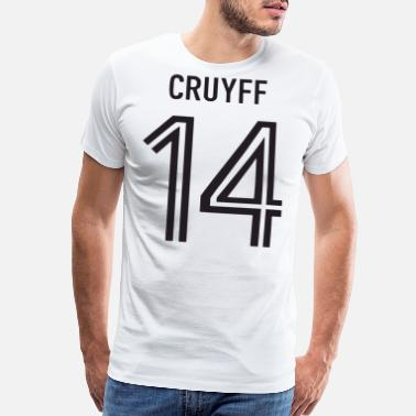 Johan Johan Cruyff 14 Mens Retro Holland Football Player - Men's Premium T-Shirt