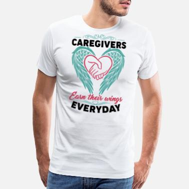 Caregivers caregivers earn their wings every day doctor - Men's Premium T-Shirt
