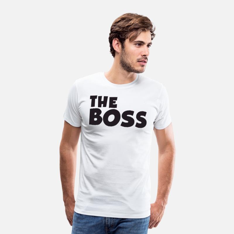 5ac76e2d Daddy Son Matching Set Top Boss Real Boss Daddy T Men's Premium T-Shirt |  Spreadshirt