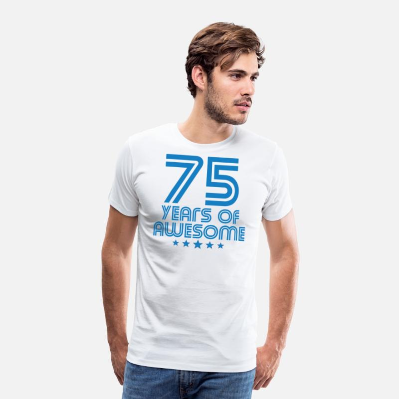75 Years Of Awesome 75th Birthday Mens Premium T Shirt