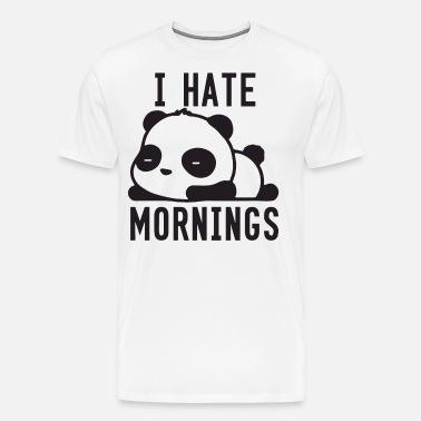fe8da8d8 I Hate Mornings Panda Bear Cute Swag T Shirts Men's Hoodie | Spreadshirt