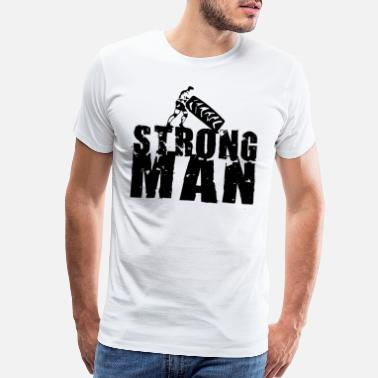 Tyre STRONGMAN Training Tyre Flip Crossfit Powerlifting - Men's Premium T-Shirt
