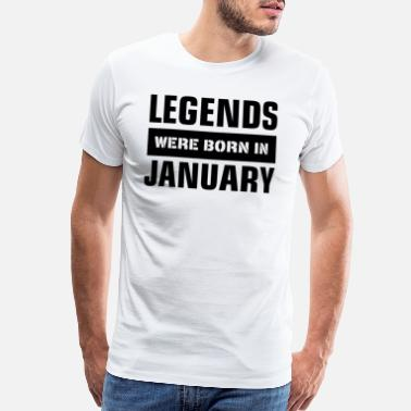 Capricorn Legends were born in January - Men's Premium T-Shirt