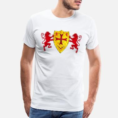 Knights Knights Templars Crusaders Lions weapon shield - Men's Premium T-Shirt