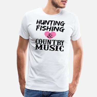 Line Dancing Rodeo Vintage Hunting Fishing & Country Music Shirt Tee - Men's Premium T-Shirt