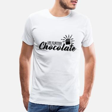 Cocoa Chocolate Better Life Black Funny Gift - Men's Premium T-Shirt