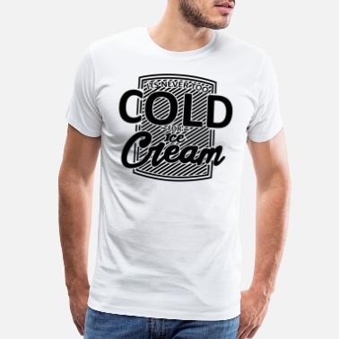 Vanilla Ice Cream Ice Cream Frosty Foodie Black Funny Gift - Men's Premium T-Shirt