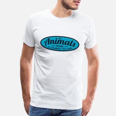 Air Cooled Animals Let The Animals Live Green Blue Cool Gift - Men's Premium T-Shirt