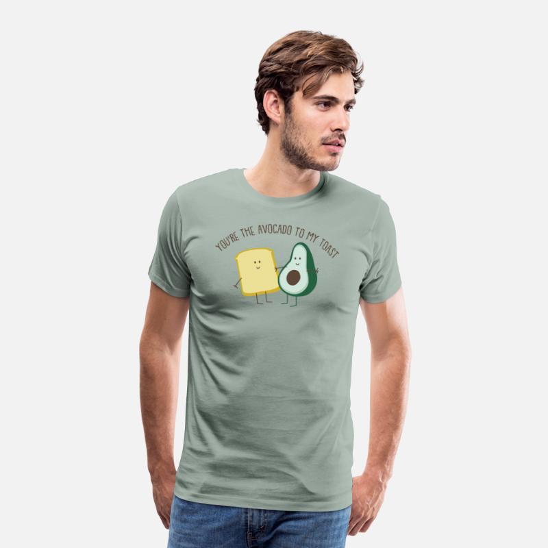 74e3505a43fa99 Avocado Toast Bread Veganism Cool Gift Men s Premium T-Shirt ...