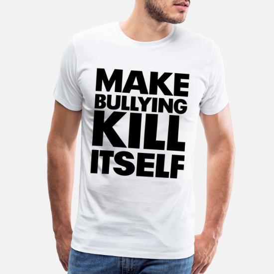 Mens Bully T-Shirt Dogs Printed On Shaka Wear Heavyweight T-Shirt
