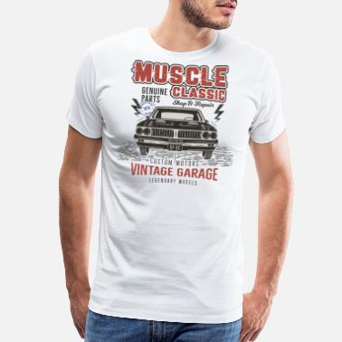 Muscle Car Muscle Car Garage - Men's Premium T-Shirt