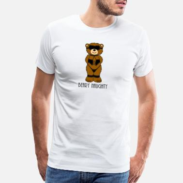 Bondage Symbols Beary Naughty Bondage Bear - Men's Premium T-Shirt