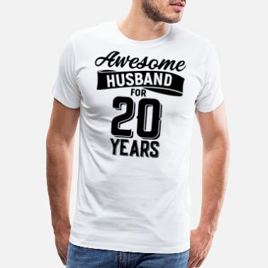 20 Year Awesome husband for 20 years - Men's Premium T-Shirt