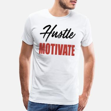 Wyd WYD Hustle Motivate Tee Grey Black Red NIPSEY HU - Men's Premium T-Shirt