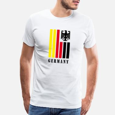 Stuttgart Germany Flag with Eagle / Present Gift - Men's Premium T-Shirt