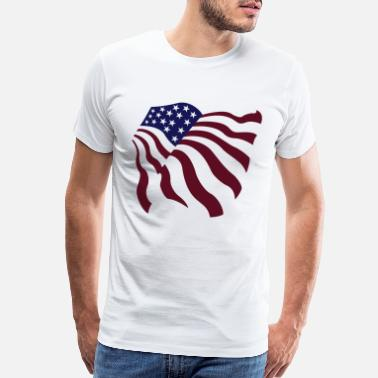 4th Of July darr flag 03 - Men's Premium T-Shirt