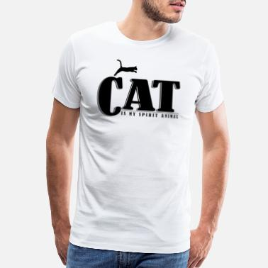 Writing Cat is my spirit animal - Men's Premium T-Shirt