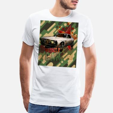 Army Cook VINTAGE MUSCLE CAR ARMY - Men's Premium T-Shirt