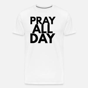 12b92a29 pray all day Trucker Cap - white/black