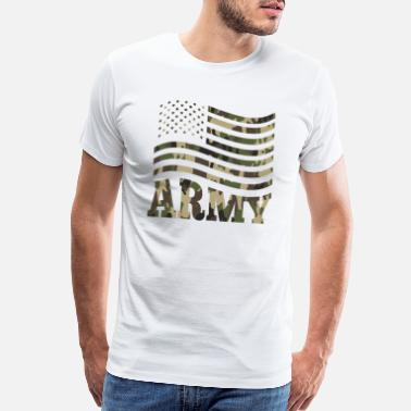 Workout Jokes US Army Flag Infantry Ranger camouflage Military - Men's Premium T-Shirt