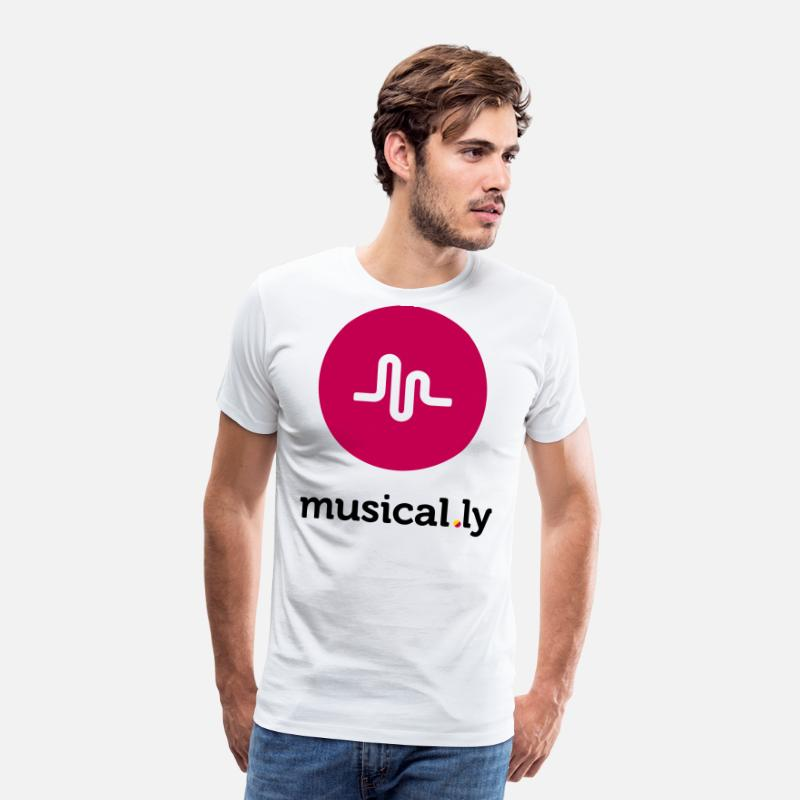 Song T-Shirts - Musical.ly Logo - Men's Premium T-Shirt white