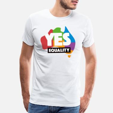 Marriage yes vote in marriage equality - Men's Premium T-Shirt