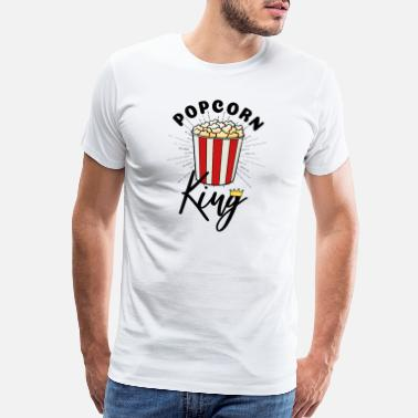 Pistone Popcorn Bag King Gift Idea - Men's Premium T-Shirt